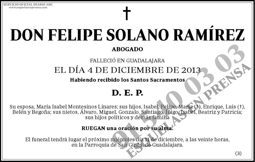 Felipe Solano Ramírez
